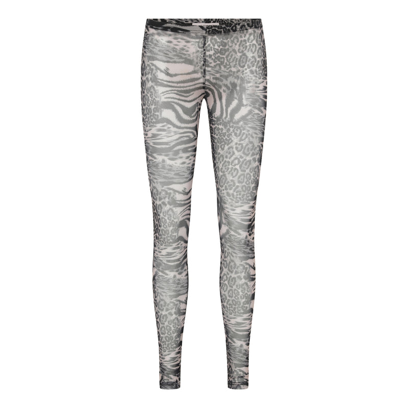 stretch Aview Kaja Leggings I transparent stof med dyreprint
