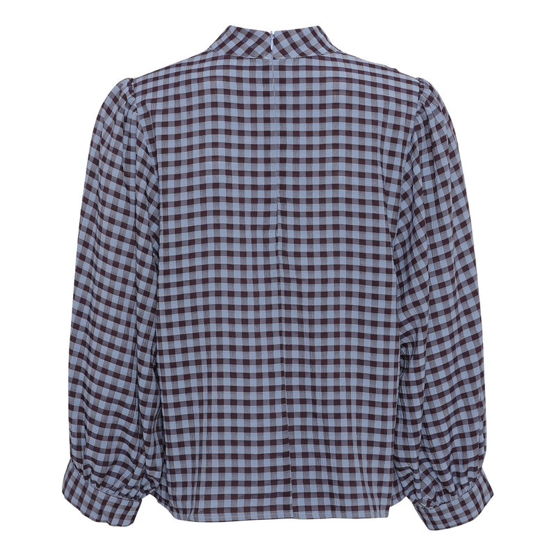 Lady blouse AV1704 - Blue check