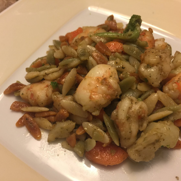 Recipe - Amazing Rosemary Shrimp & Rainbow Orzo Pasta