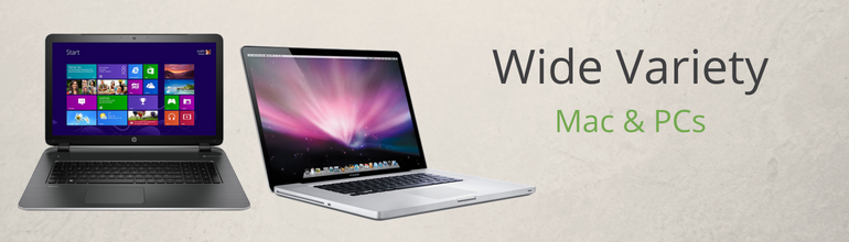 Tech Discounts Wide Variety Mac and PCs