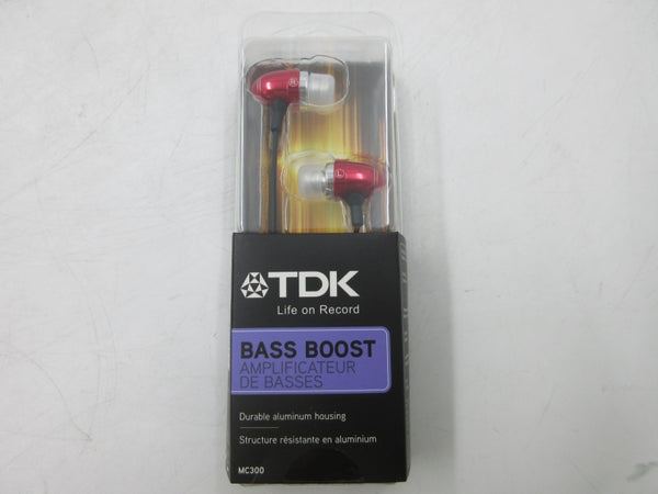TDK MC300 Red Bass Boosted Earbuds Headphones