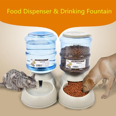 1pcs 3.75L Automatic Pet Dog Cat Water Food - holicpet