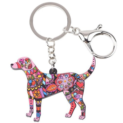 Acrylic Jewelry Dog Beagle Pets Key Chain - holicpet