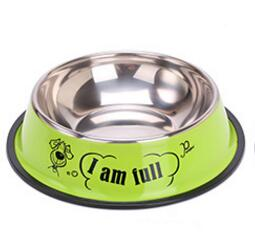 Stainless steel dog bowl sport travel Pet dog cat - holicpet