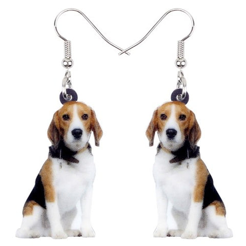Acrylic Jewelry Beagle Dog For Womens - holicpet