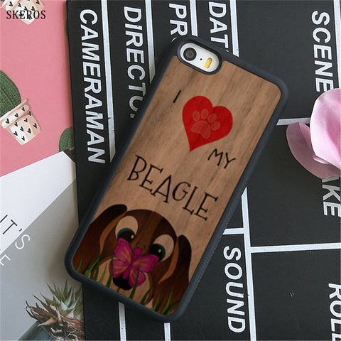 I love my Beagle Dogs 10 phone case for iphone - holicpet