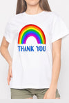 White Rainbow Thank You NHS T-shirt
