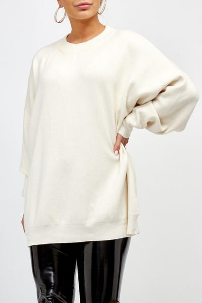 Cream Rock & Roll Baggy Knitted Jumper - Kailani