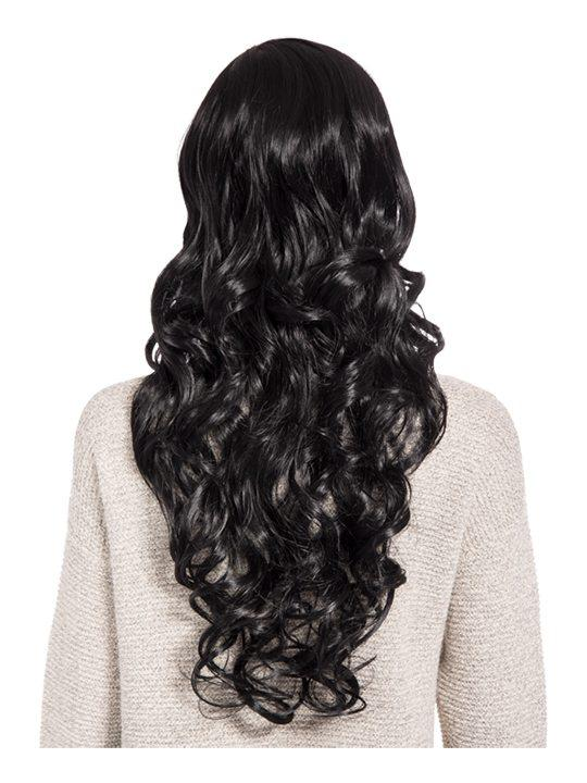 Olivia Curly Full Head Wig in Jet Black - Storm Desire