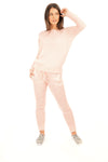 Baby Pink Knitted Lounge wear Set - Olive