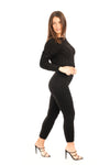 Black Cable Knit Loungewear co-ord Set - Francesca