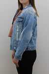 Blue Denim Silver Stud Jacket - Ryan - storm desire