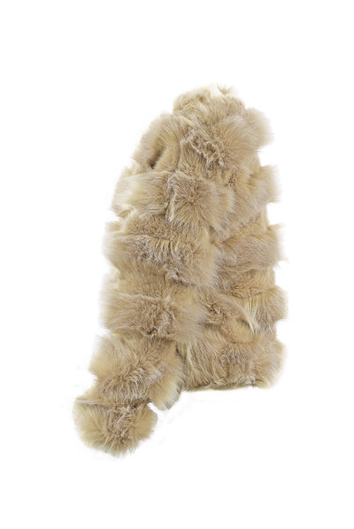 Beige Super Soft Faux Fur Jacket - Brooklyn - storm desire
