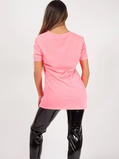 Neon Pink Monster Jaw Face Printed T-Shirt - Harper - Storm Desire