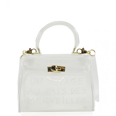White Un Voyage Top Handle Mini jelly Tote Bag - Vera