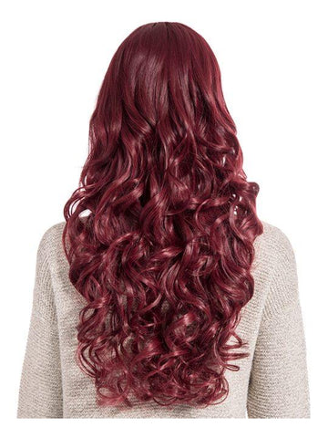 Olivia Curly Full Head Wig in Burgundy - storm desire