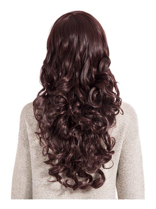 Olivia Curly Full Head Wig in Plum - Storm Desire