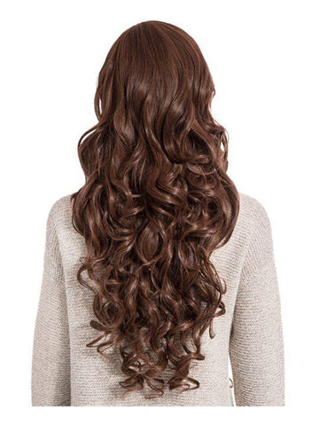 Olivia Curly Full Head Wig in Warm Brunette - Storm Desire