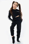 Kids Black Casual Oversize Joggers Loungewear - Gloria