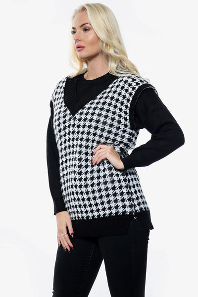 Black Over Size Knitted Vest  - Milani