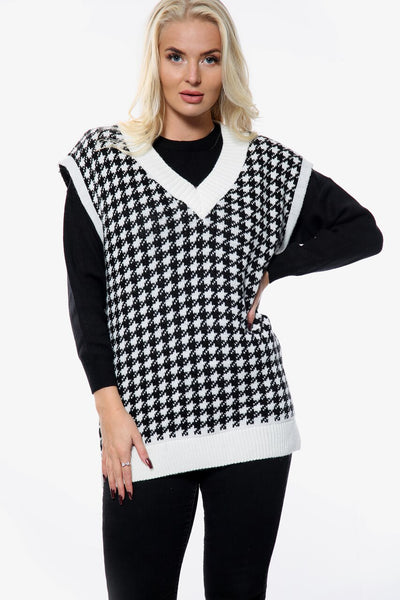 Off White Over Size Knitted Vest  - Milani