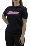 Black '90s Baby' Slogan Round Neck T-shirt - Kaitlin