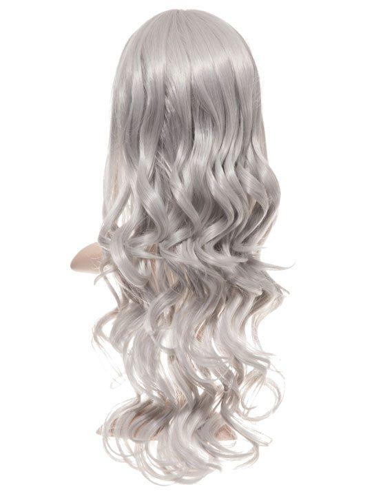 Silver Grey Long Curly Party Wig - Storm Desire