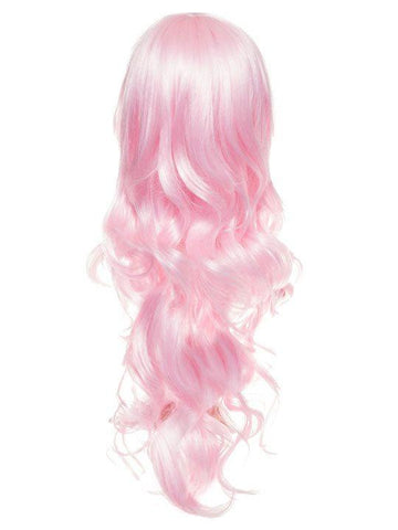 Baby Pink Long Curly Party Wig - Storm Desire