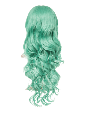 Emerald Green Long Curly Party Wig - Storm Desire