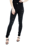 Black Extreme Denim Distressed Ripped Jeans - Gabriella - storm desire