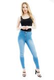 Light Denim High Waisted Jeans - Kennedy - Storm Desire
