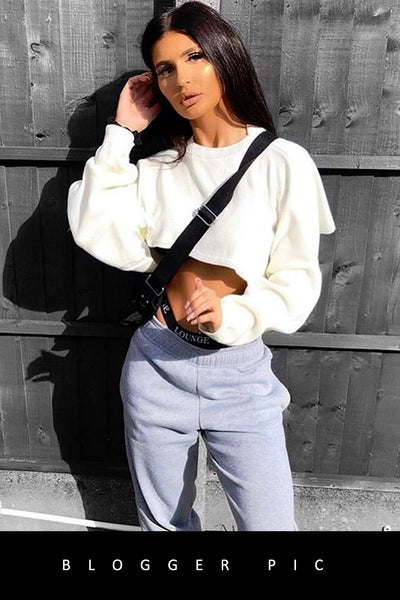 Cream Cropped Batwing Knitted Jumper - Viviana