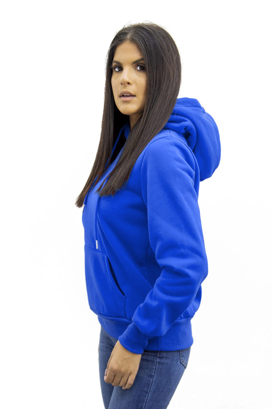 Royal Blue Jersey Casual Lounge Hoodie - Kelly