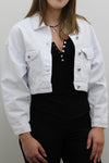 White Crop Denim Summer Jacket - Adelaide