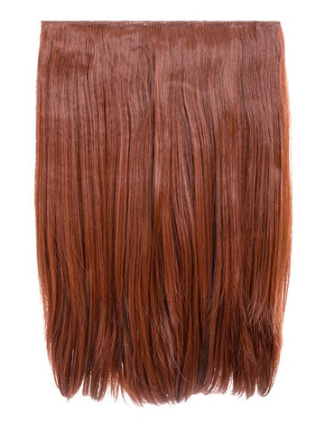Dolce 1 Weft 18″ Straight Hair Extensions In Copper Red - storm desire