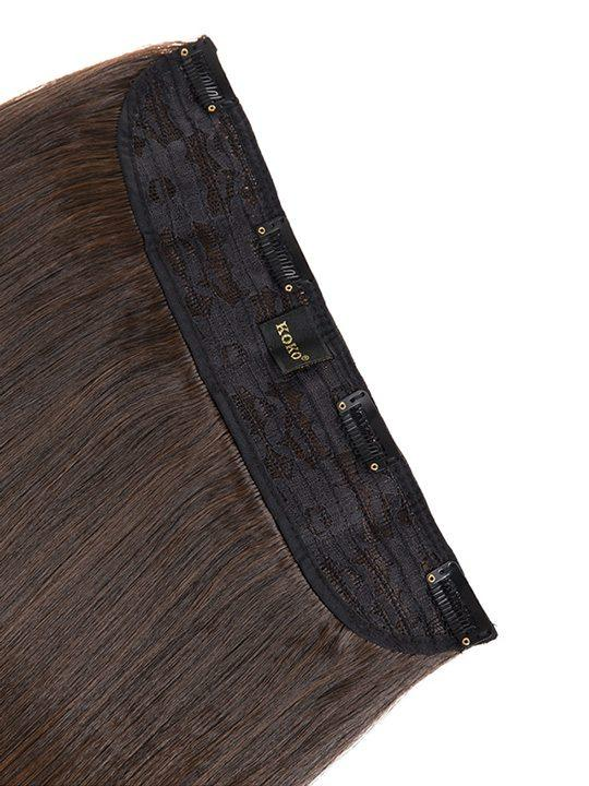 Dolce 1 Weft 18″ Straight Hair Extensions In Warm Brunette - storm desire