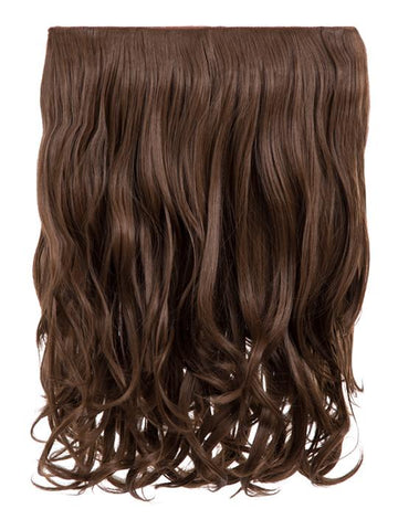 Rosie 1 Weft 16″ Curly Hair Extensions In Ash Brown - storm desire
