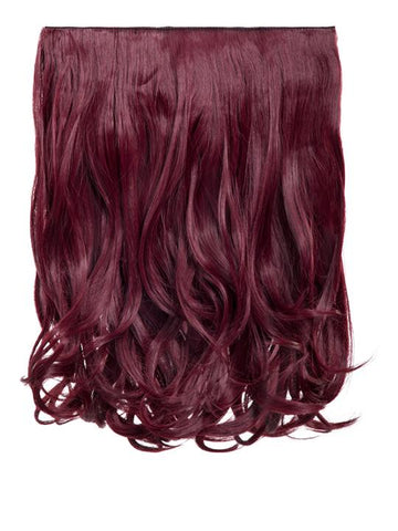 Rosie 1 Weft 16″ Curly Hair Extensions In Burgundy - storm desire