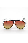 Aviator Metal Frame Gradient Sunglasses - Sunset