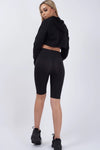 Black Satin Disco Cycling Shorts - Helen