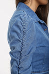 Denim Blue Button Up Jacket - Hallie