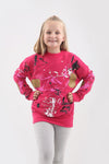 Kids Pink Paint Splash Jumper - Gemma
