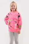 Kids Neon Pink Paint Splash Jumper - Gemma