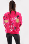 Pink Paint Splash Graffiti Jumper - Gemma