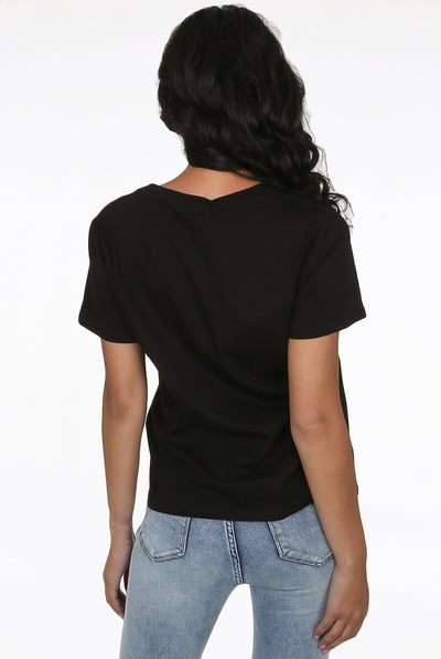 Black Rainbow Lips T-shirt Top - Rowan