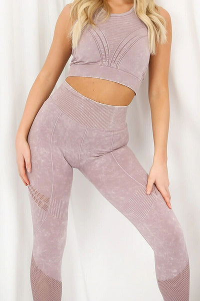 Pink Tie Dye Print Active Gym Set - Mia