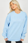 Blue Liberte Embroidered Sweatshirt Jumper - Georgia