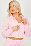 Pink Zipped Hooded Top & Split Trouser Fleece Co-ord - Isabella