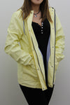 Light yellow Waterproof Hooded Festival Rain Mac coat - Lola