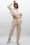 Peach Tie Dye Hooded Jersey Loungwear Suit - Nova